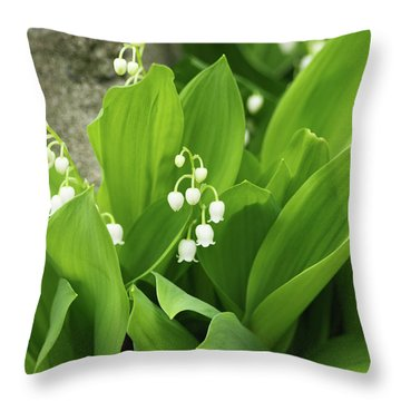 Throw Pillow featuring the photograph Lily Of The Valley by Cristina Stefan