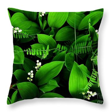 Lily Of The Valley Throw Pillow by Elfriede Fulda