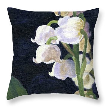 Lily Of The Valley Throw Pillow by Lynne Reichhart
