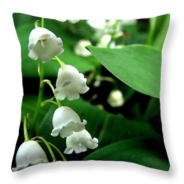 Lily Of The Valley  Throw Pillow by Michelle Calkins