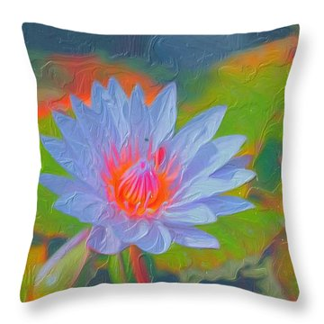 Lily Of The Valley Painting Throw Pillow by Don  Wright