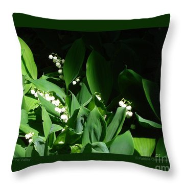 Lily Of The Valley Throw Pillow by Patricia Overmoyer