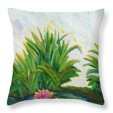 Lily On The Pond Throw Pillow