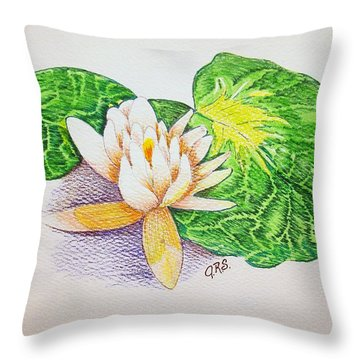 Lily Pad Throw Pillow by J R Seymour