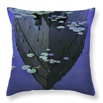 Lily Pads And Reflection Throw Pillow by John Hansen