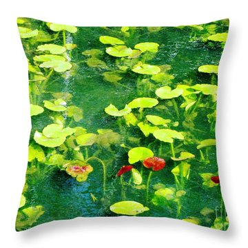 Lily Pads Throw Pillow