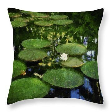 Lily Pads On The Pond Throw Pillow