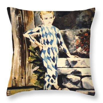 Lily Pierrot Throw Pillow by John Keaton