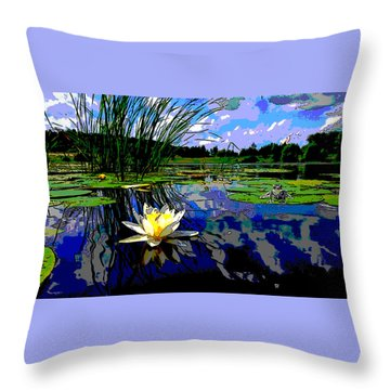 Lily Pond Throw Pillow by Charles Shoup