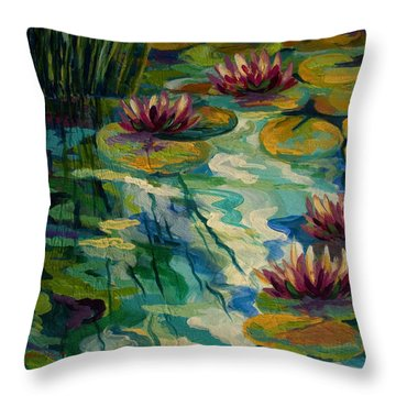 Water Lily Throw Pillows