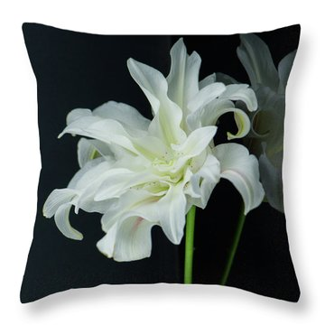 Lily Reflected Throw Pillow