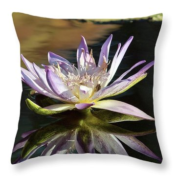 Lily Reflections Throw Pillow by Gary Dean Mercer Clark