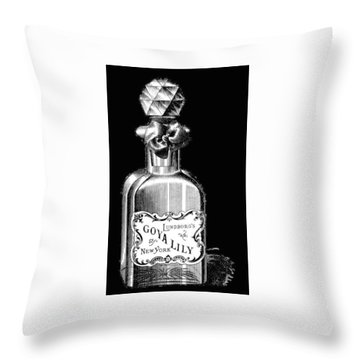 Throw Pillow featuring the digital art Lily by ReInVintaged