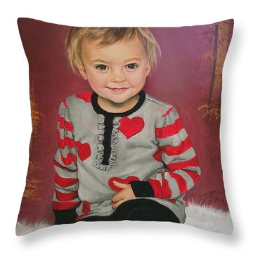 Throw Pillow featuring the painting Lily  by Sharon Duguay