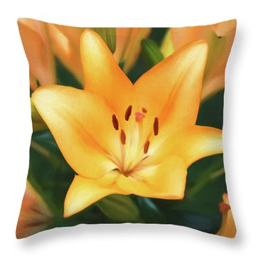Lily Throw Pillow by Steven Michael