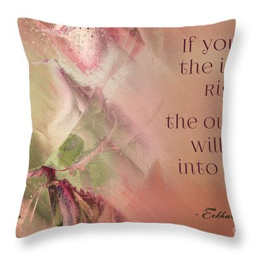 Throw Pillow featuring the digital art Lily Text - Et01b by Variance Collections