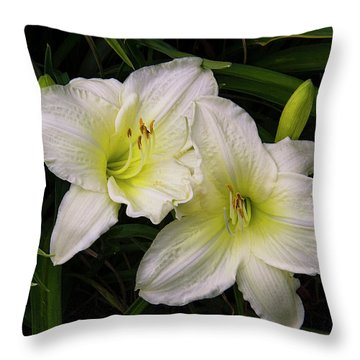 Lily Twins Throw Pillow