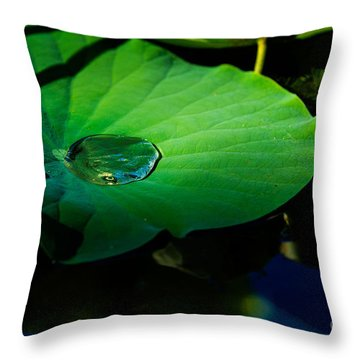 Lily Water Throw Pillow
