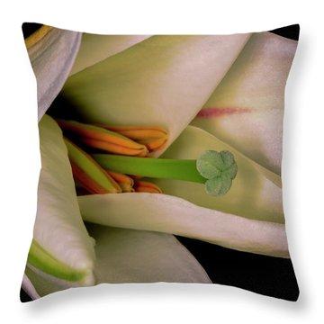Lily White Throw Pillow by Roy McPeak