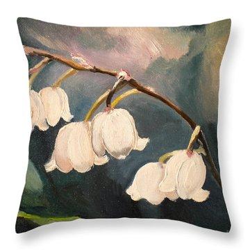 Lily Whites Throw Pillow