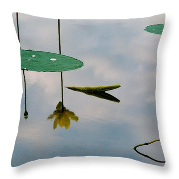 Lily's Reflection Throw Pillow by Carolyn Dalessandro