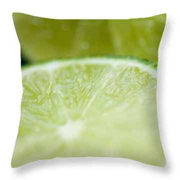 Lime Cut Throw Pillow by Ray Laskowitz - Printscapes