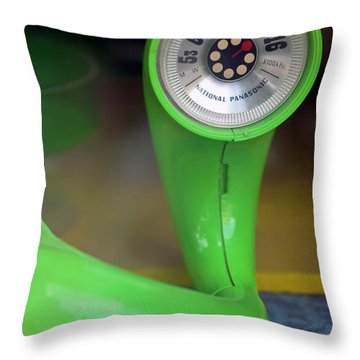 Lime Green Twisted Radio Throw Pillow by Matthew Bamberg