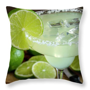 Throw Pillow featuring the photograph Lime Margarita Drink by Teri Virbickis