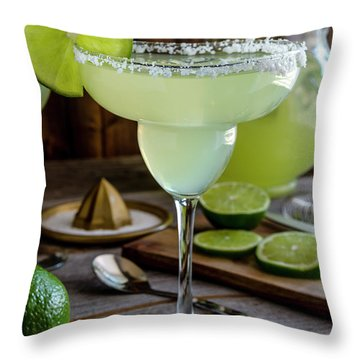 Throw Pillow featuring the photograph Lime Margaritas by Teri Virbickis