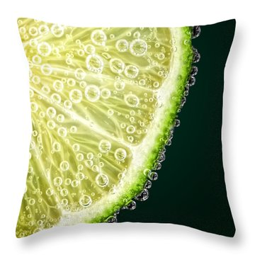 Lime Slice Throw Pillow