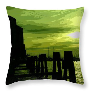Lime Squash Throw Pillow