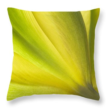Lime Tulip Throw Pillow