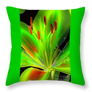 Lime Twist Throw Pillow