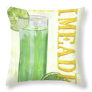 Throw Pillow featuring the painting Limeade by Debbie DeWitt