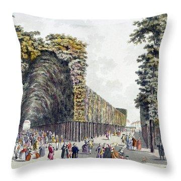 Limegrove Walk, Augarten, Vienna, 1790s Throw Pillow