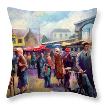 Limerick Market Ireland Throw Pillow by Paul Weerasekera
