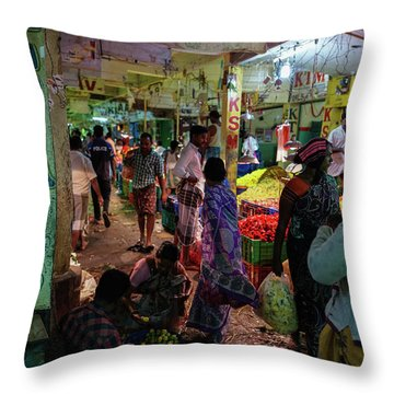 Throw Pillow featuring the photograph Limes For Sale by Mike Reid