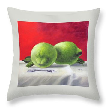 Limes Throw Pillow by Tim Johnson