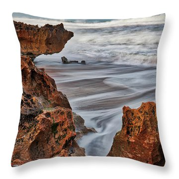 Limestone Ocean Throw Pillow