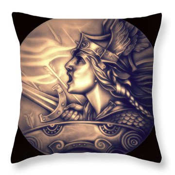 Limited Edition French Genius In Armor Throw Pillow