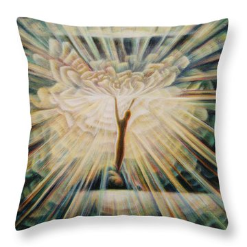 Limitless Throw Pillow by Nad Wolinska
