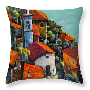 Limone Del Garda Throw Pillow