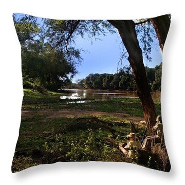 Limpopo River Delta  Throw Pillow
