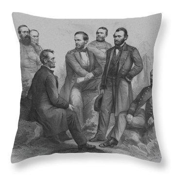 Lincoln And His Generals Throw Pillow by War Is Hell Store
