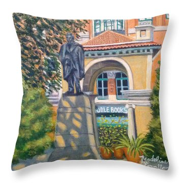 Lincoln At Union Square, N.y. Throw Pillow