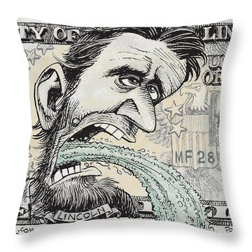 Lincoln Barfs Throw Pillow