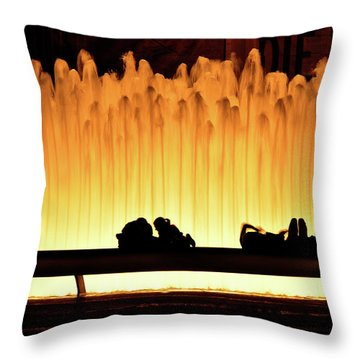 Lincoln Center Fountain Throw Pillow