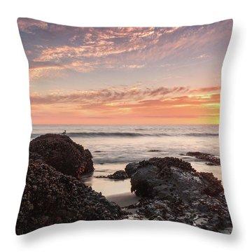 Lincoln City Beach Sunset - Oregon Coast Throw Pillow by Brian Harig