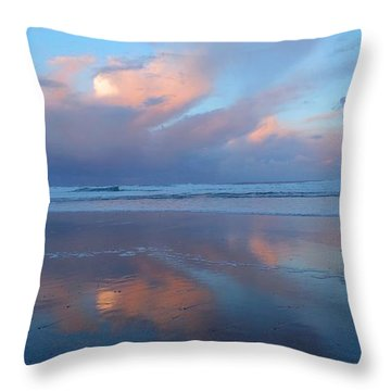 Lincoln City Sunrise Throw Pillow by Karen Molenaar Terrell