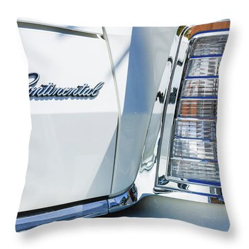 Lincoln Continental Mark Iv Head Light -0149c Throw Pillow